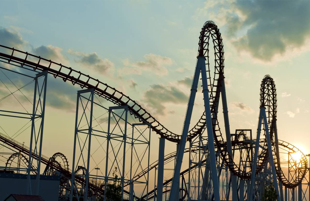 roller coaster symbolizing coronacoaster