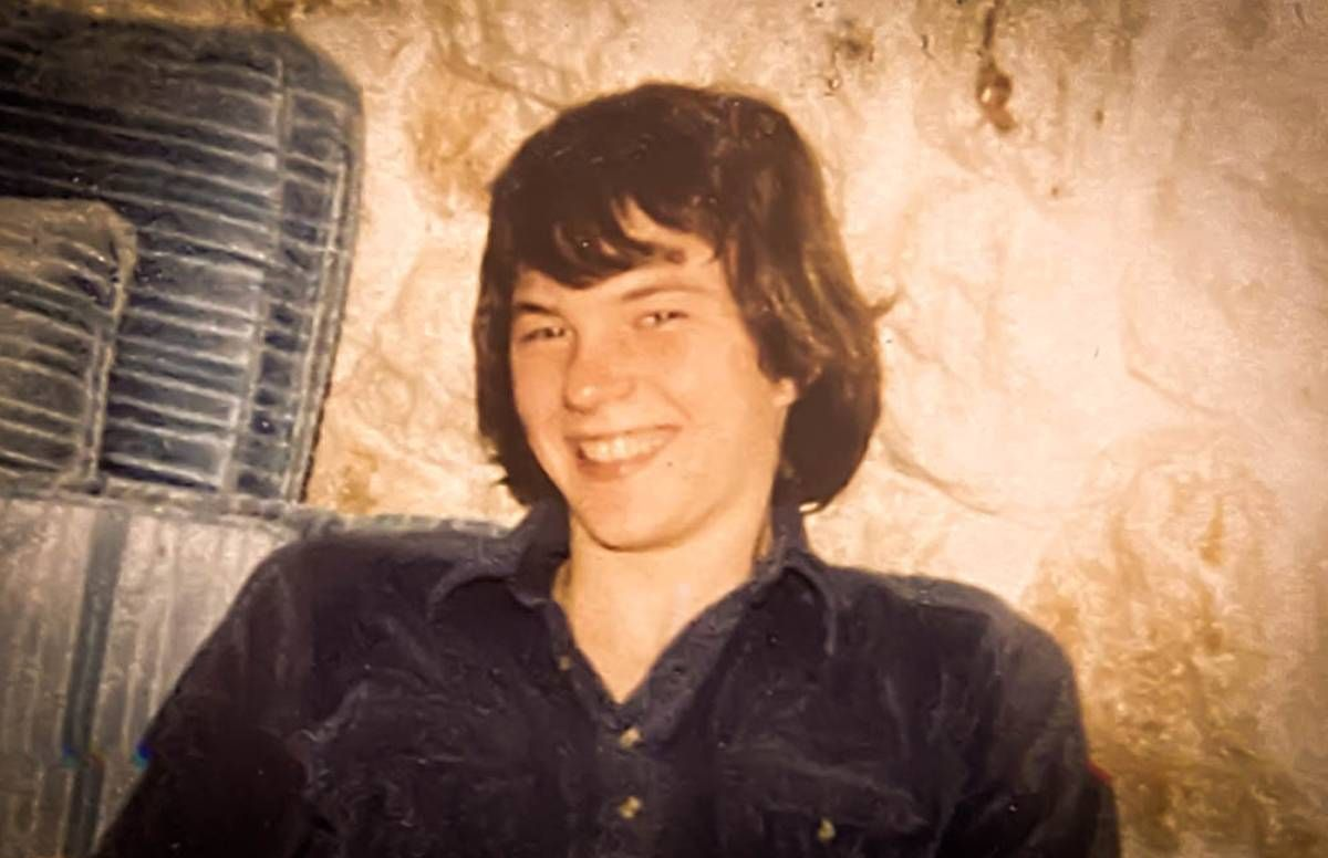 The last photo taken of the author's brother David, 1983