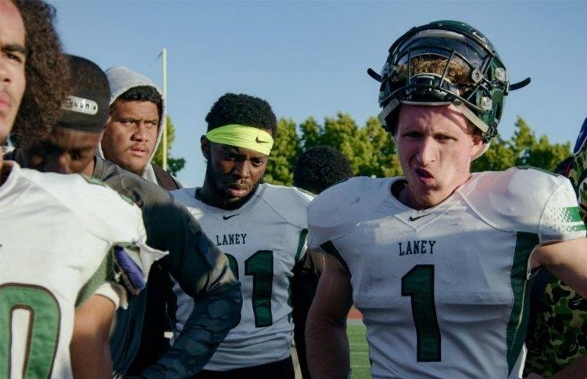 Laney Eagles - player RJ Stern on right