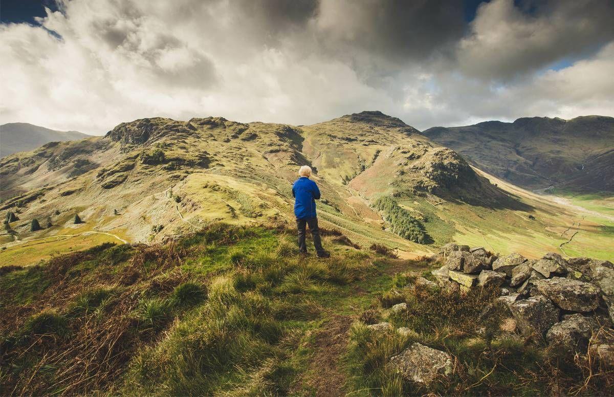 person on a mountain