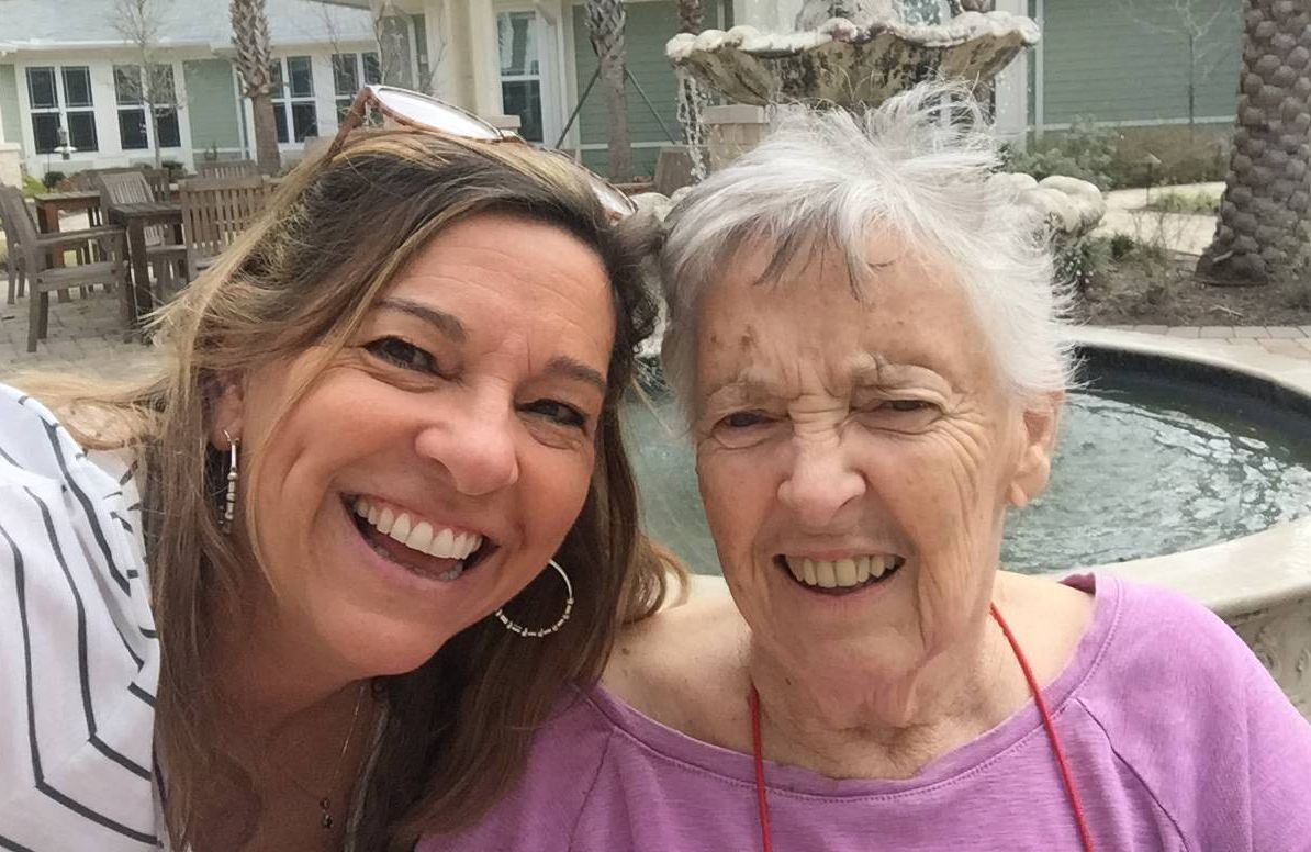 Beth Graham and her mother Betty, taken in the fall of 2019 at her nursing home in Ponte Vedra, Fla.
