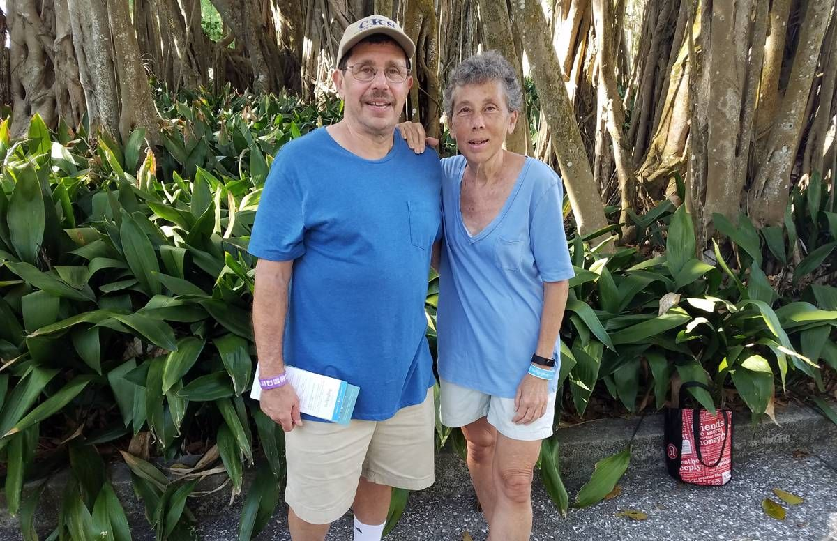 Debby and David Englander, who live on Long Island and winter in Florida