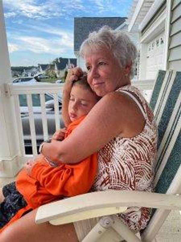 Pat Nucatola with her grandson, Ryan in Ocean City, Maryland