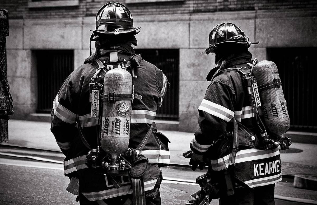 Two New York City firefighters
