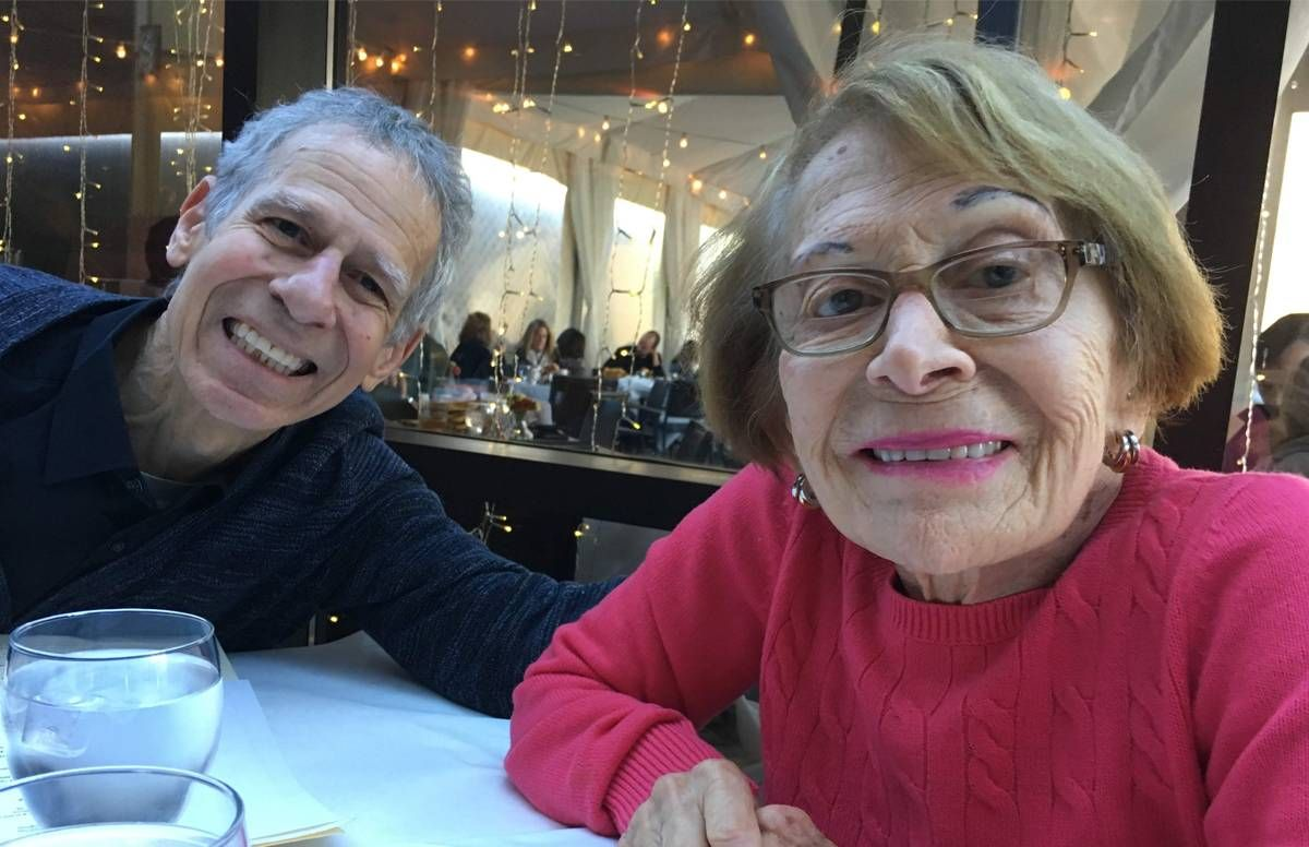 Marc Silver with his mom, Shirley
