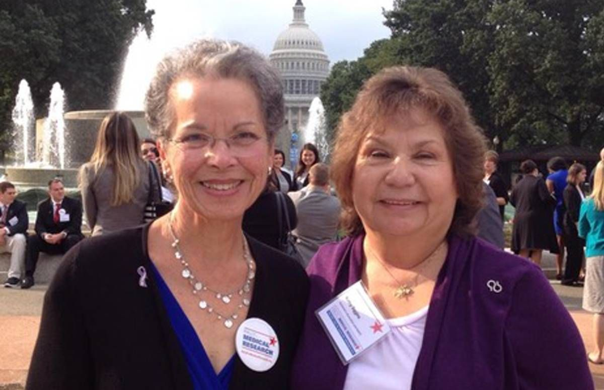 Lynda Everman and Kathy Siggins, the forces behind the Alzheimer's stamp