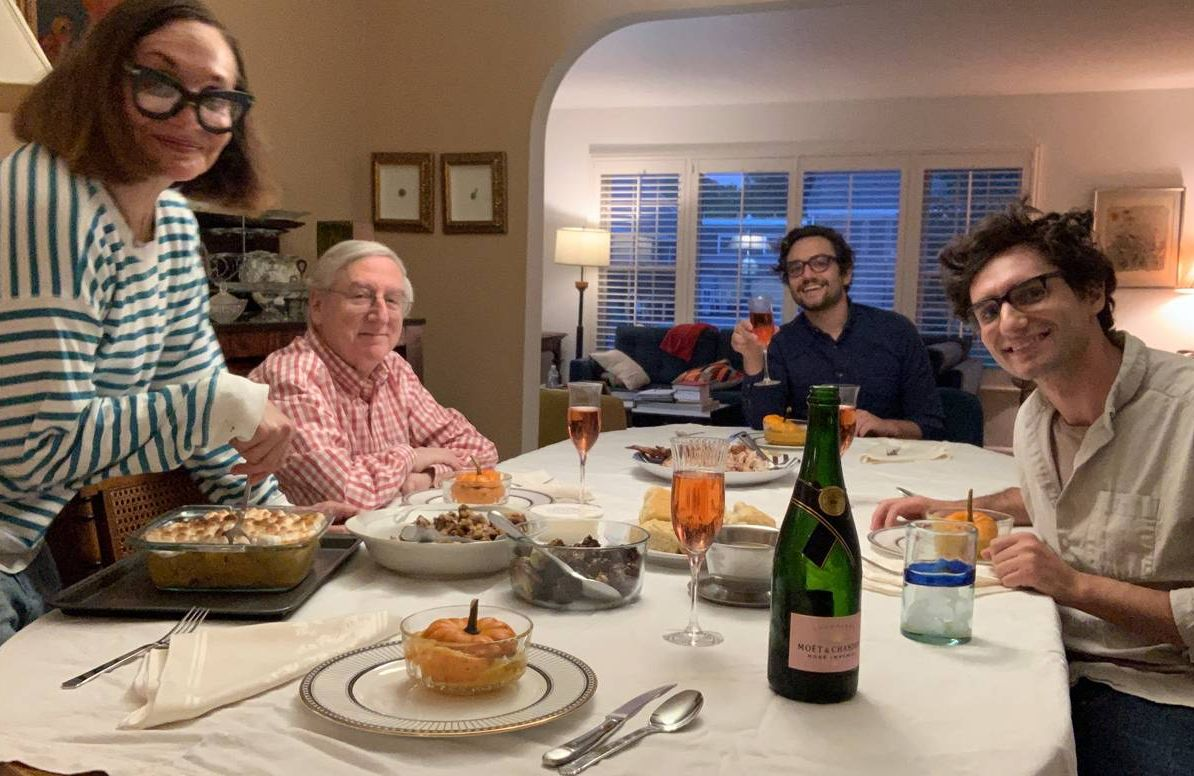 Eisenberg family at their Oct. 9 Thanksgiving table
