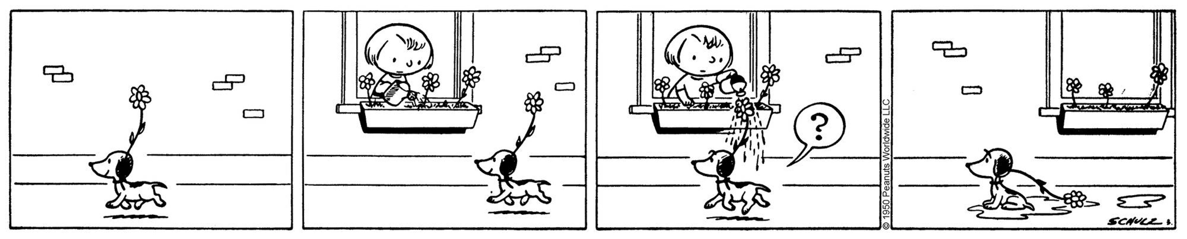 Early Peanuts comic strip