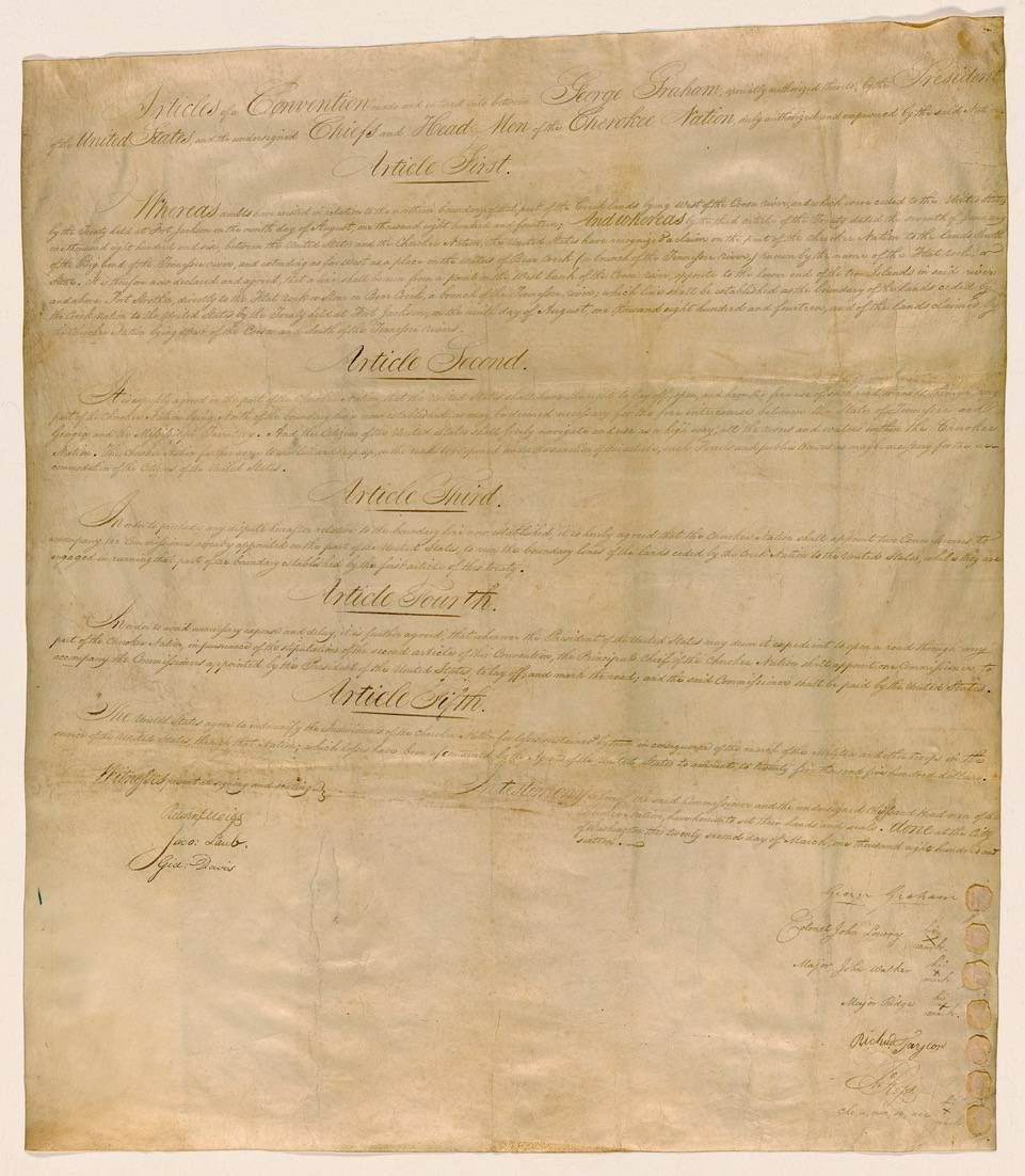 The National Archives needs volunteers to tag and transcribe many handwritten documents that OCR software is unable to decipher, like this 1816 treaty with the Cherokee nation, transcribing history, next avenue