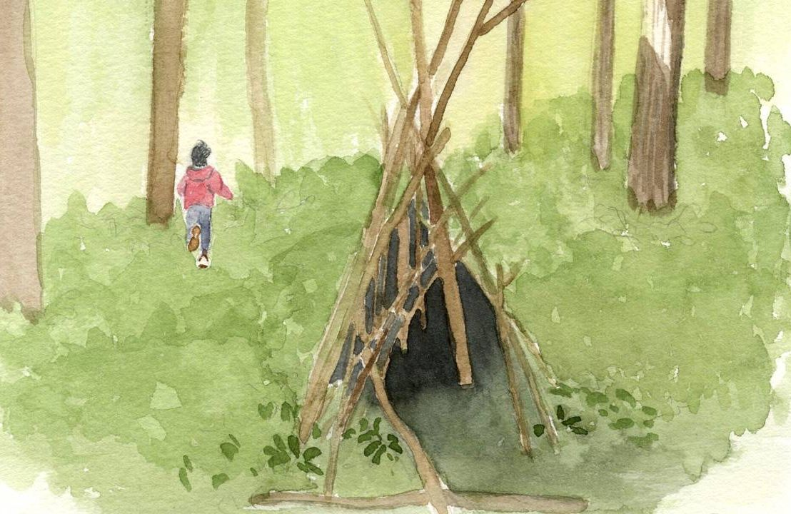 "Illustration of ""Bivouac"" from ""Shelter"", Next Avenue, pandemic project"