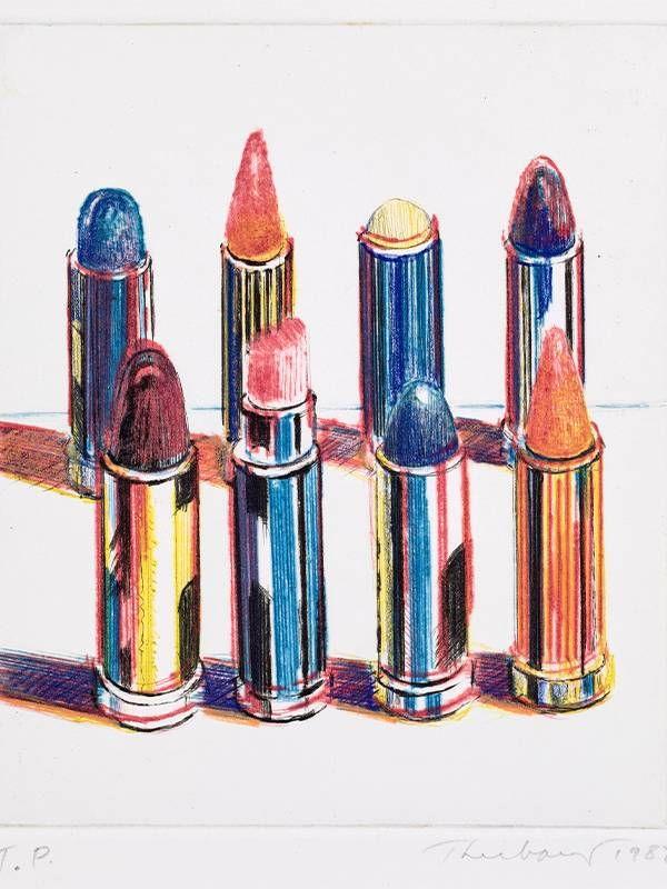 Painting by Wayne Thiebaud, Lipsticks