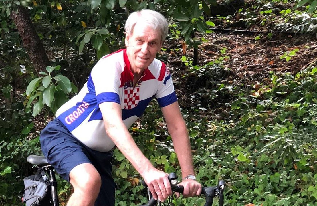 Richard Haiduck riding his bicycle, shifting gears, retirement, next aveanue