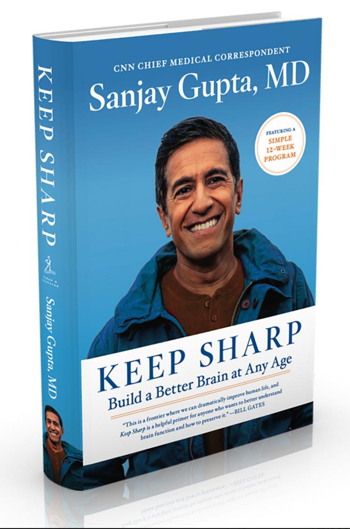 """Sanjay Gupta's new book, """"Keep Sharp,"""" Next Avenue, brain sharp"""