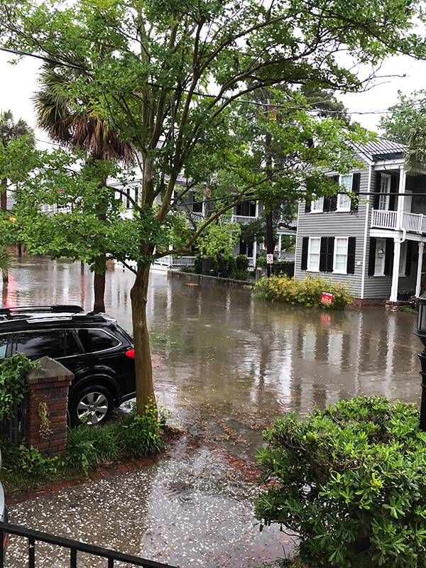 Street flooding in Charleston, S.C., climate change, retirement bubbles