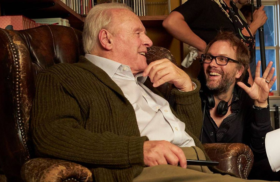 Actor Anthony Hopkins and Director Florian Zeller behind the scenes of 'The Father', dementia, film, Next Avenue