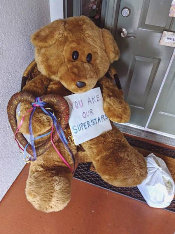 Teddy bear with thank you note, driverless cars, autonomous vehicles, mobility, Next Avenue