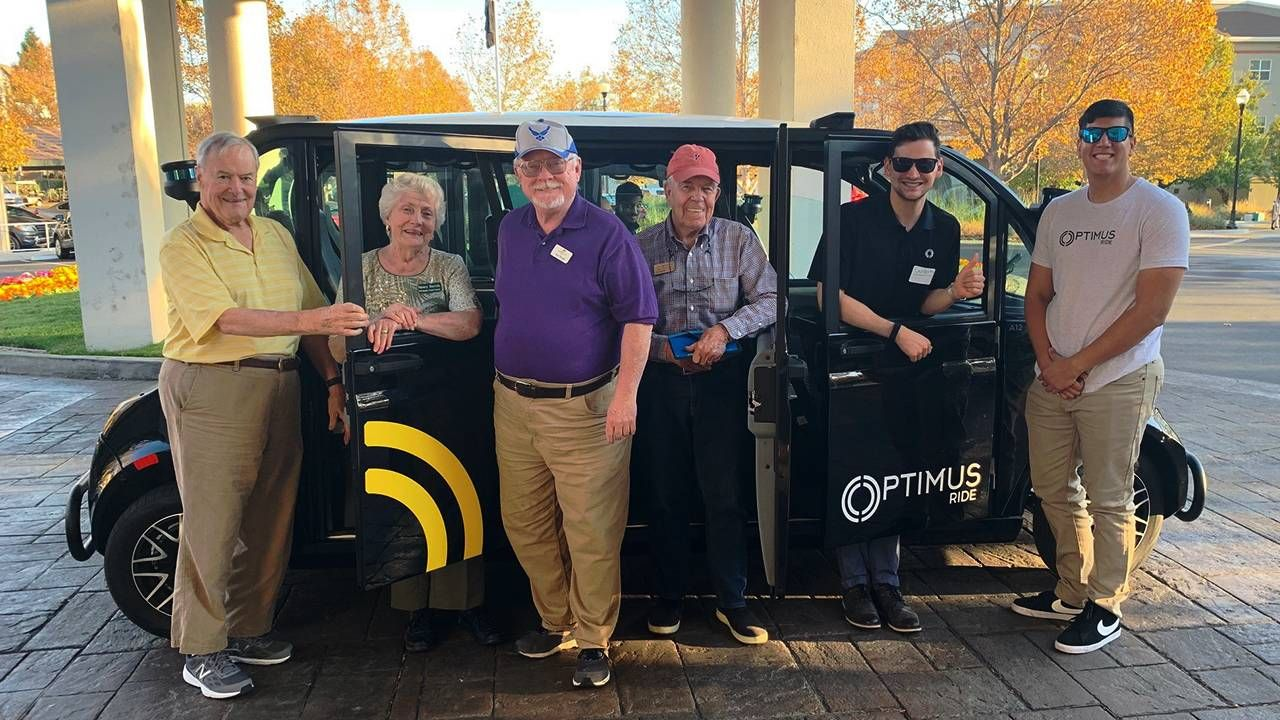 older residents with driverless car Optimus Ride, autonomous vehicles, mobility, Next Avenue