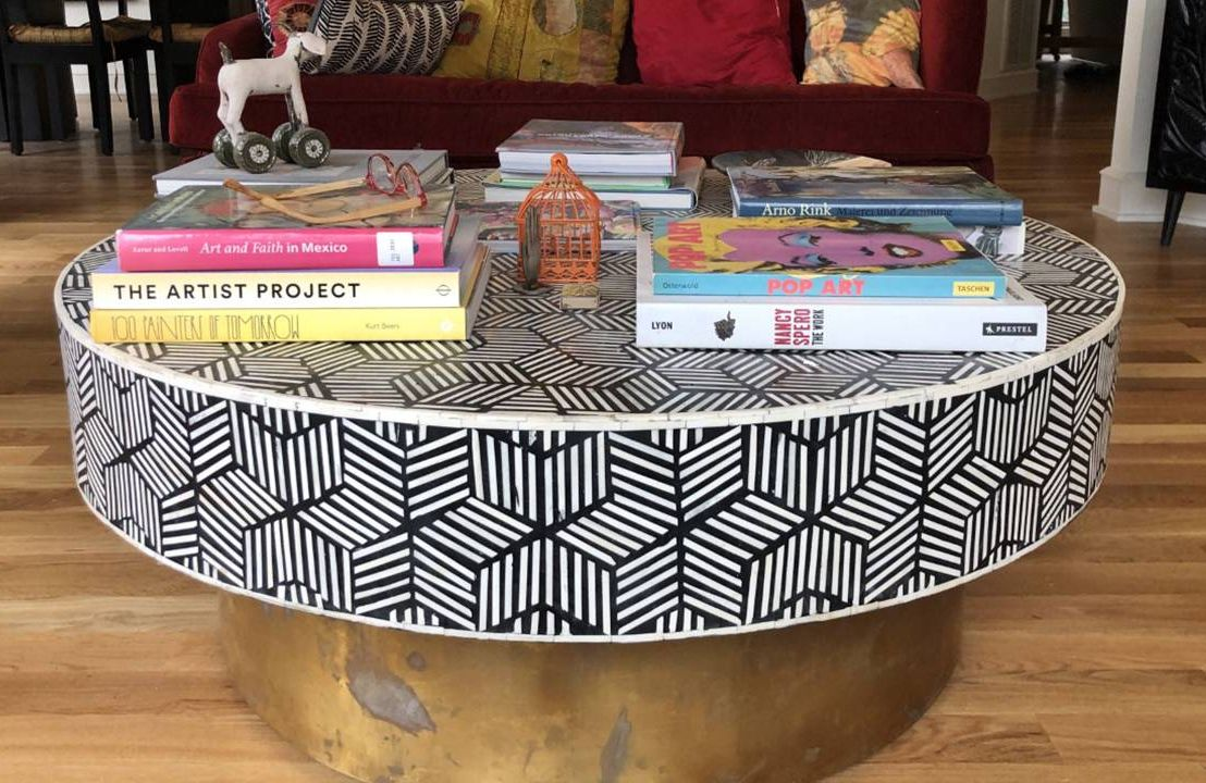 Coffee table with mosaic pattern, job, job loss, Next Avenue