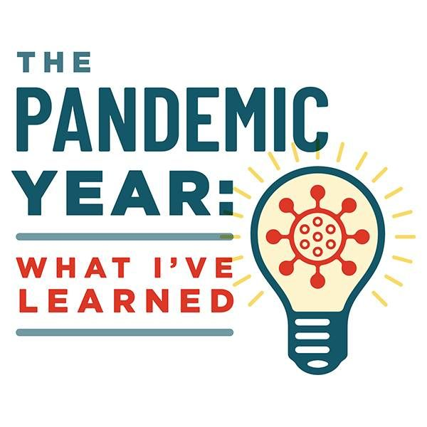 """""""What I've Learned"""" series graphic art, pandemic, aging, Next Avenue"""