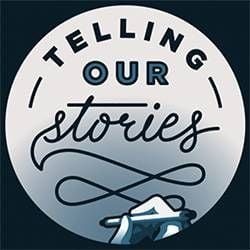 """Telling Our Stories"" graphic image, Next Avenue"
