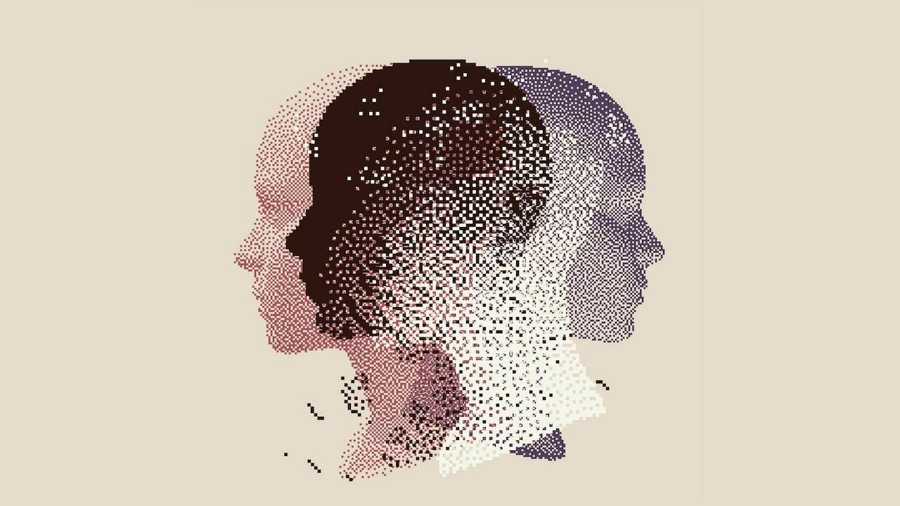 chauvin trial, managing feelings, mental health, abstract image of a person thinking