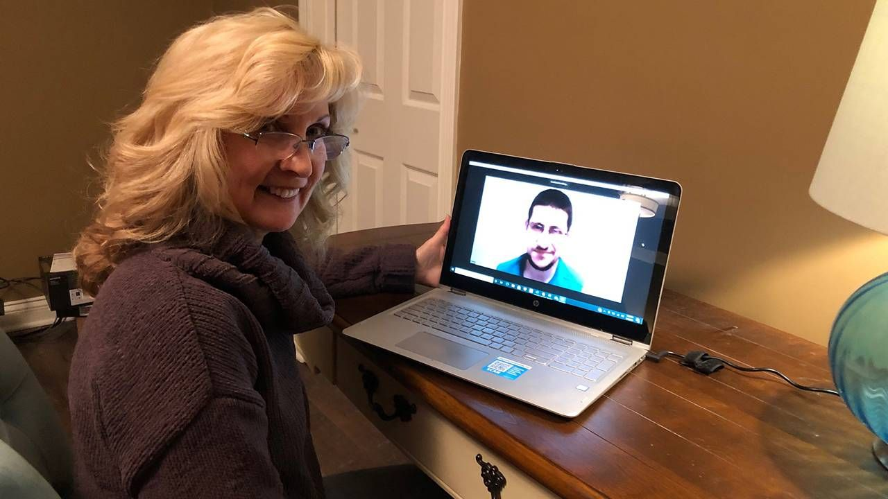 Mentor Lori meeting with Mark over Zoom, autism, jobs, Next Avenue