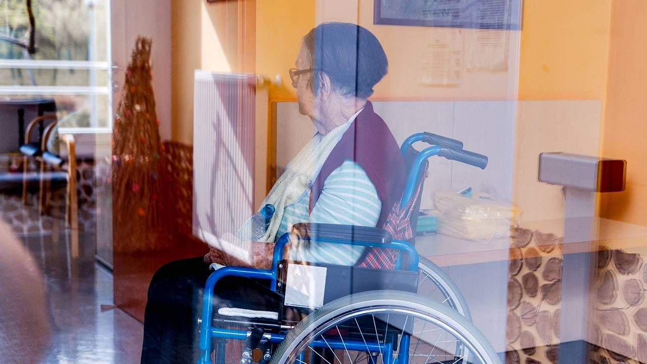 Nursing home, Next Avenue, Older woman using wheelchair in nursing home, Next Avenue