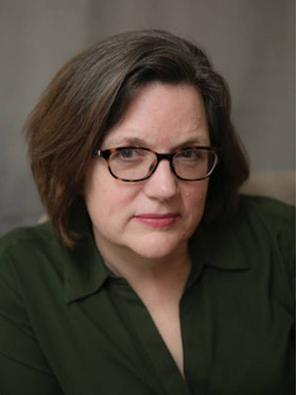 Closeup of Poet Susan Moor wearing green shirt. Poets, Poetry, Next Avenue