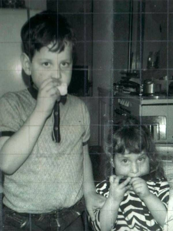 An old photo of the author and her brother as children, siblings, Next Avenue