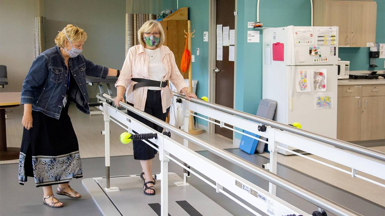 A physical therapy patient and PACE recipient during treatment. Home care, Next Avenue