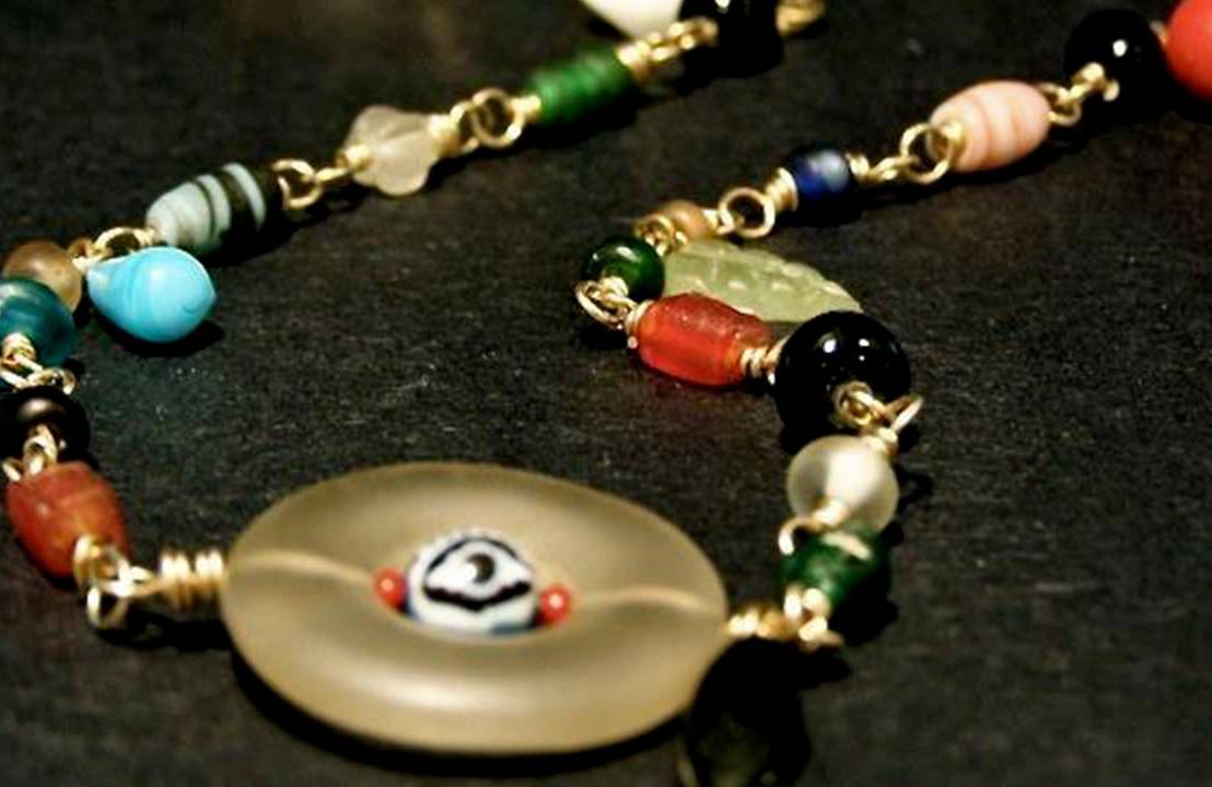 A colorful beaded necklace. Next Avenue arts and learning, jewelry making, amy cousin