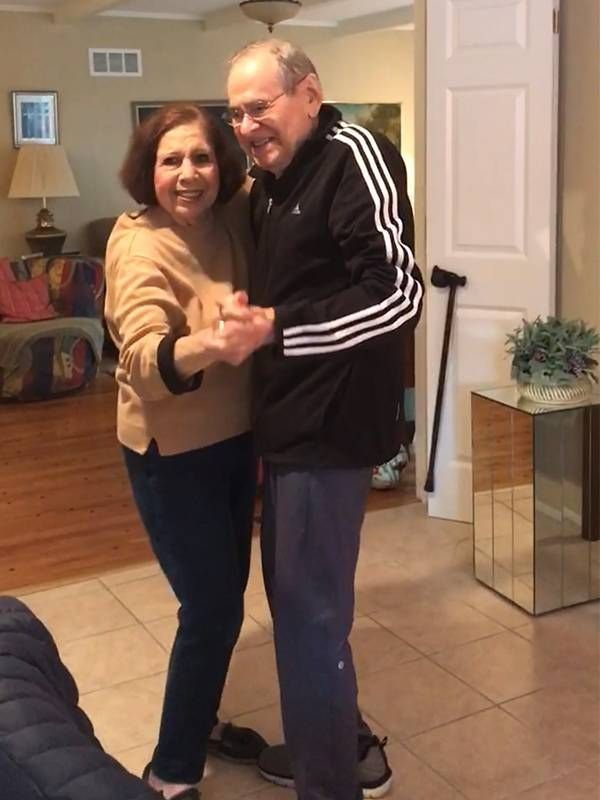 An older couple dancing in their home. Father, Dad, Next Avenue
