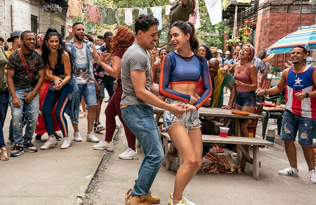 """The cast of """"In The Heights"""" dancing outside. Next Avenue, dance, dancer"""