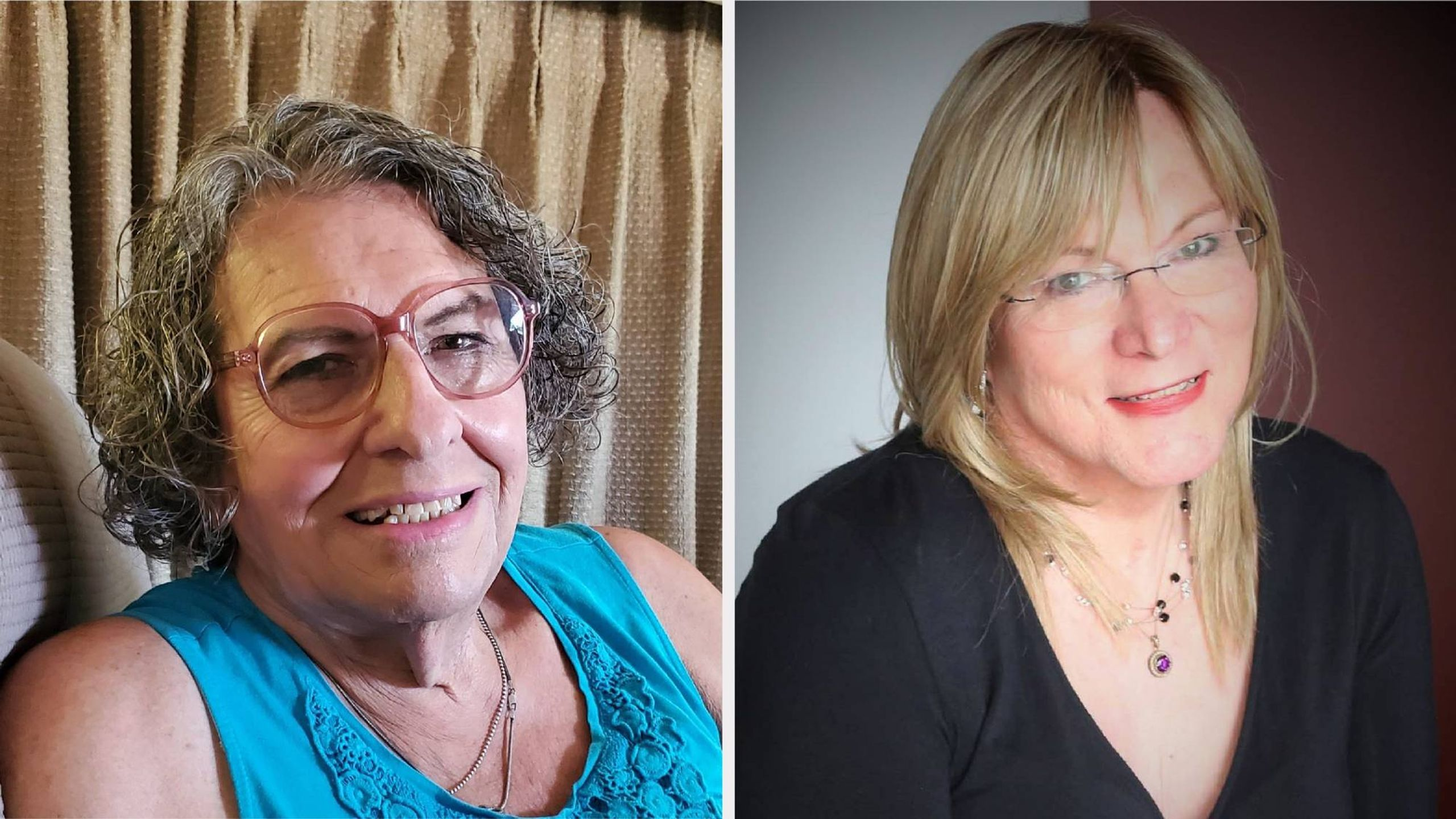 Side-by-side photos of the two women. Transgender women, older adults, Next Avenue
