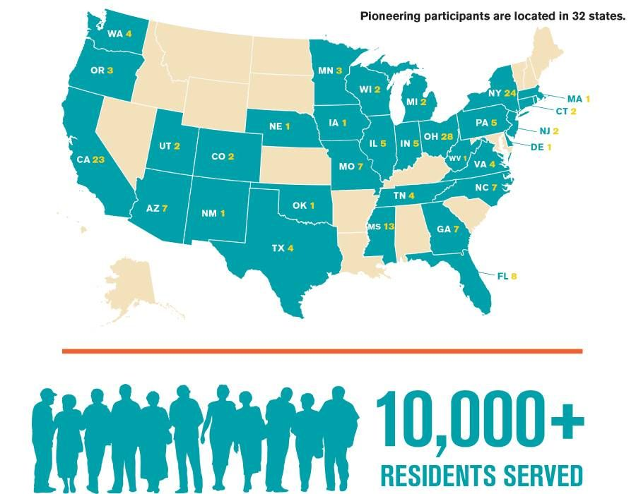 An infographic showing the states where the participants are from. LGBTQ housing, Next Avenue