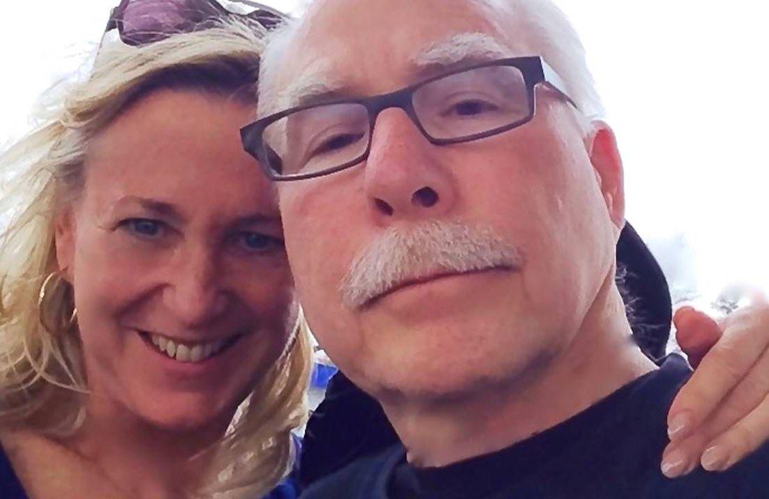 Author and caregiver Karen Warner Schueler and her husband. Next Avenue, vacation