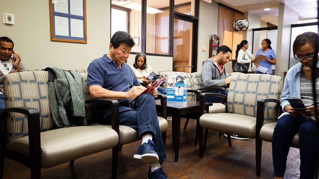 patients waiting in the doctor's office. Finding a doctor, Next Avenue