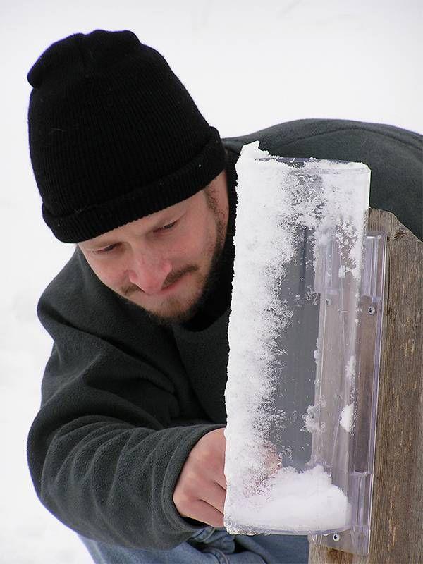 A citizen scientist measures snowfall. Next Avenue