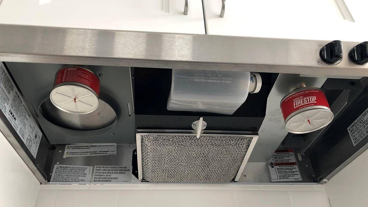 Under-cabinet automatic fire extinguishers. Dementia, Next Avenue, apartment
