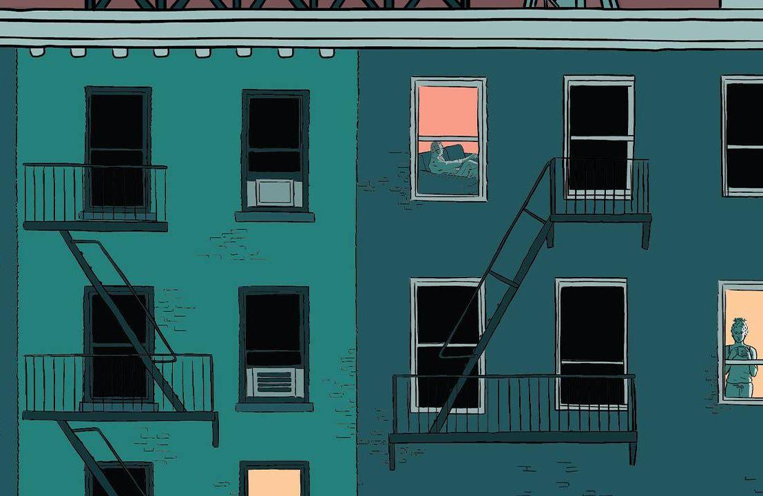 An illustration of people alone inside an apartment building. Loneliness, Seek You, Kristen Radtke, Next Avenue