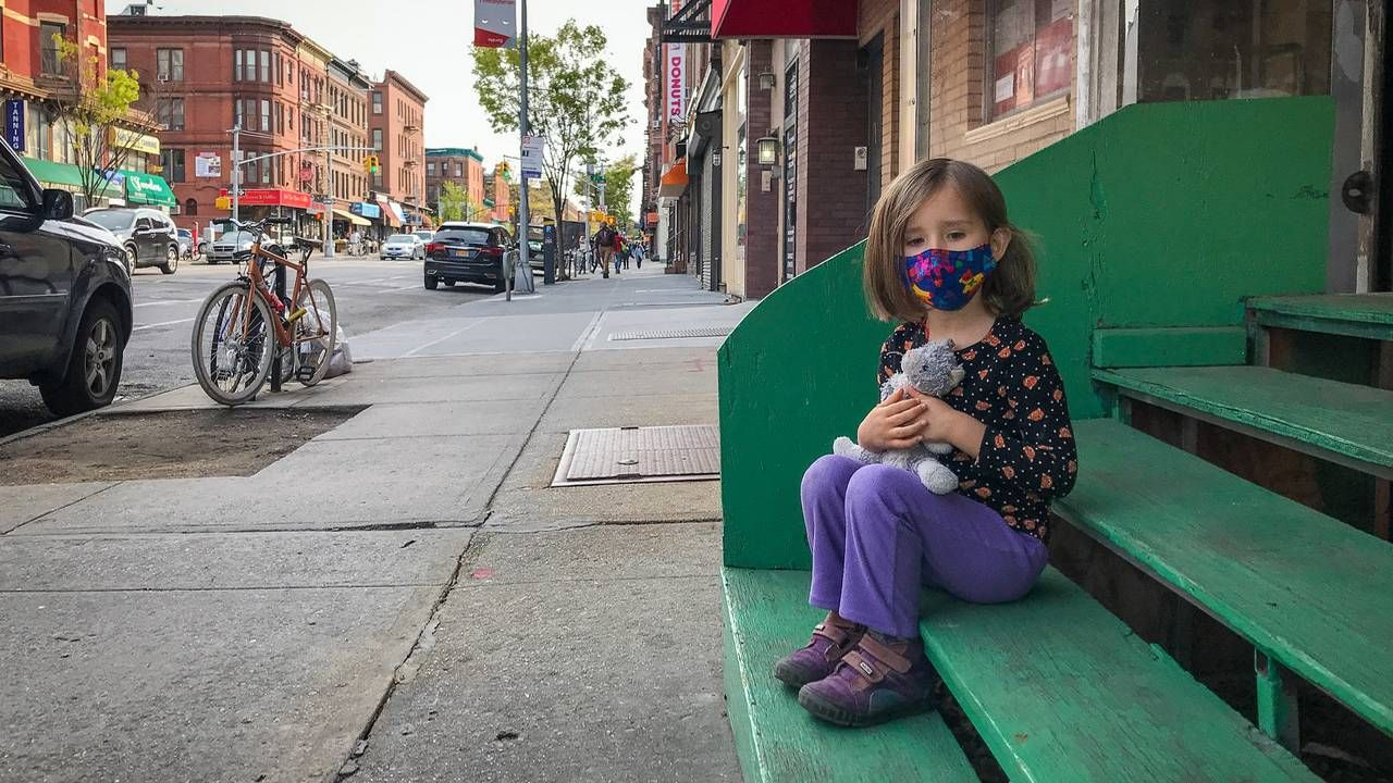 The photographer's daughter sitting on steps in NYC. photography, photographer, Next Avenue