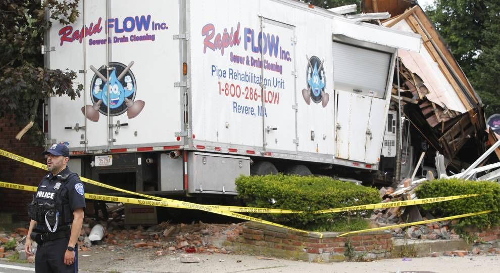 Winthrop and State Police block the intersection of Cross and Shirley Streets where a truck collided with another vehicle and crashed into a building prior to shots being fired June 26, 2021, in Winthrop, Massachusetts, hate crimes against Black Americans, Next Avenue