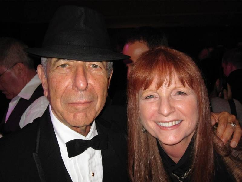 Sandi Bachom with musician Leonard Cohen. Next Avenue, documentary filmmaker