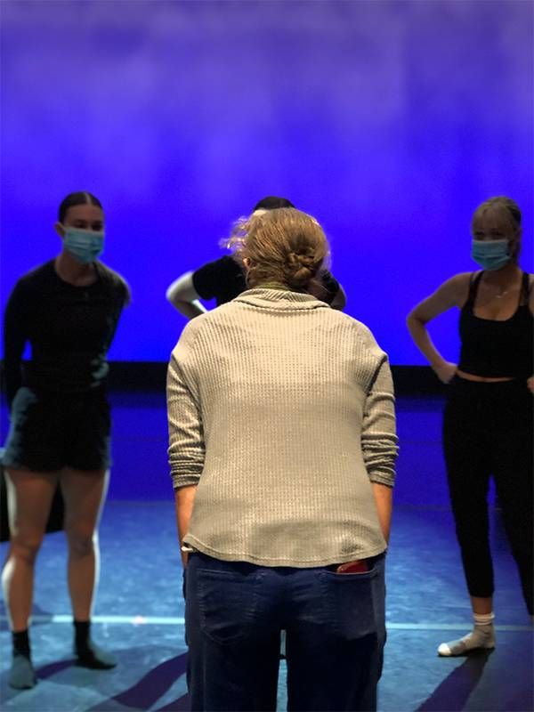 Dance students standing in front of a dance teacher. Next Avenue, loneliness, intergenerational connections