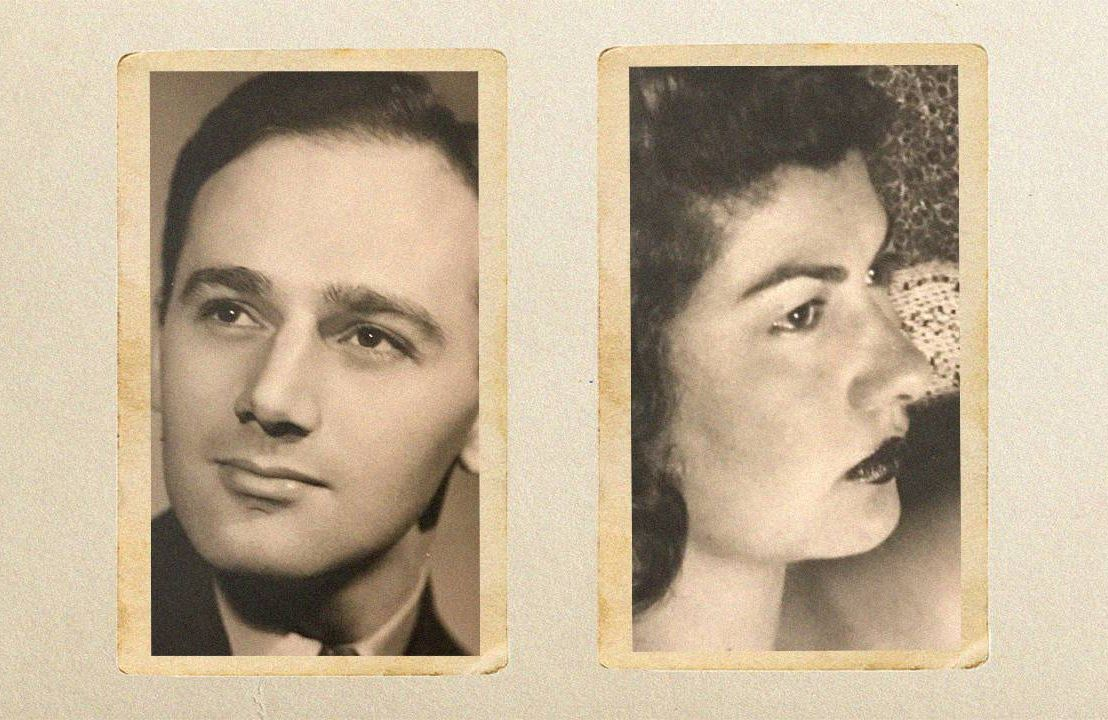 Old photograph of a woman and a man. Next Avenue, love, romance, 78 RPM record