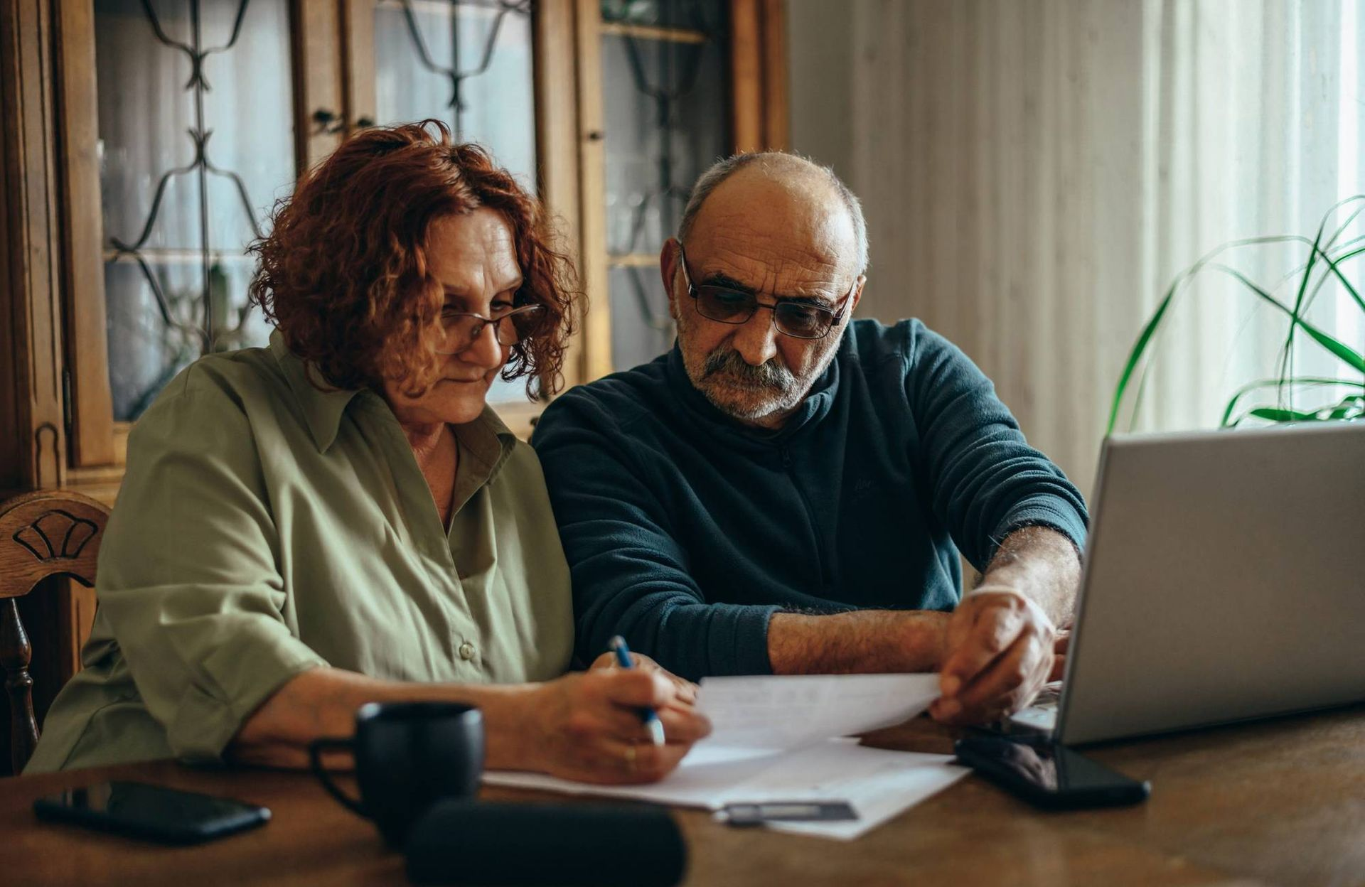 Worried couple, cost of longterm care