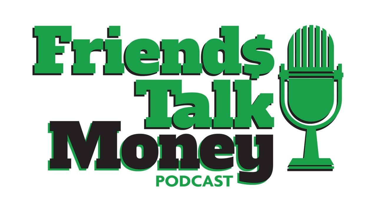 Graphic for the Friends Talk Money Podcast. Next Avenue, scam, scam calls, phishing