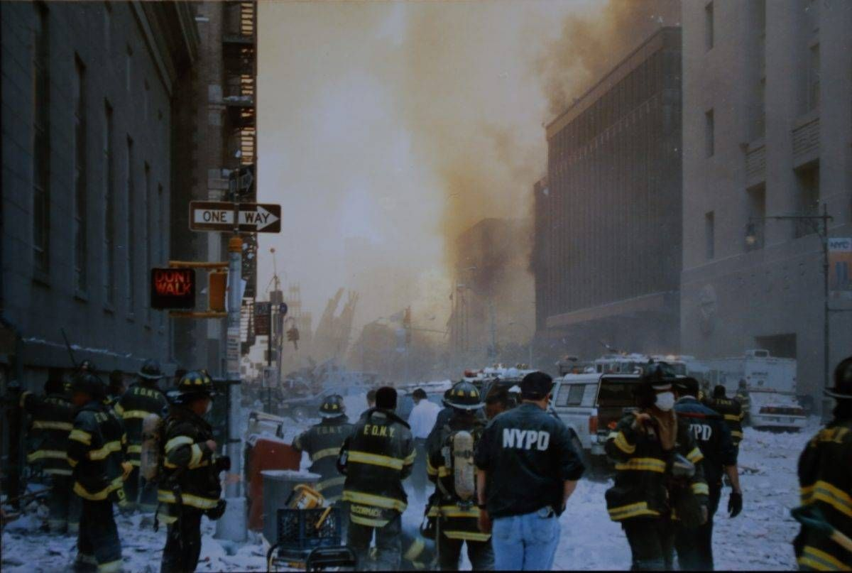 Photo taken with a disposable camera by 9/11 first responder Ken George, where you were on 9/11