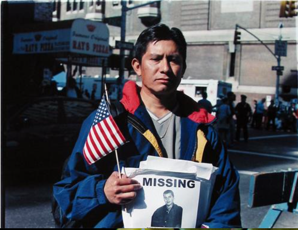 Missing: Fabian Soto, 2001, Photo by Donald Lokuta, where you were on 9/11