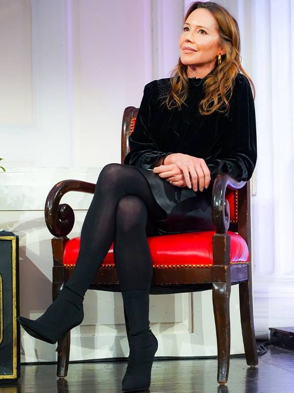 Author, Dr. Samantha Boardman wearing black sitting on a stage. Next Avenue, Everyday Vitality, change, stress